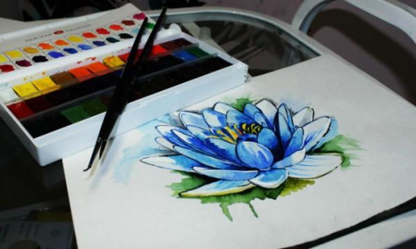 Рисуем лилию — цветок с роскошной историей