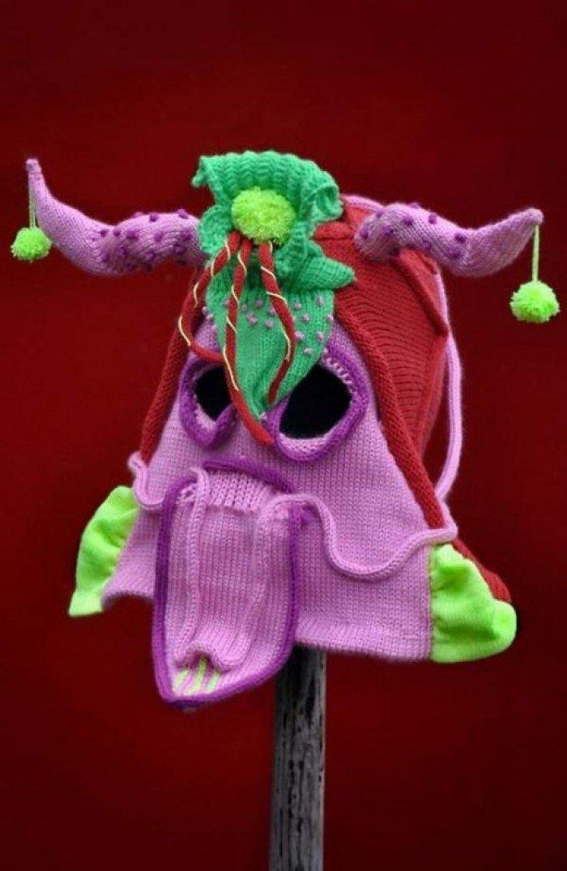 Вязанная шапка для Хеллоуина