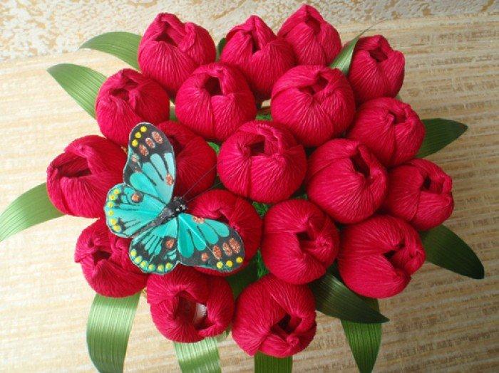 виготовлення букета квітів на 8 березня