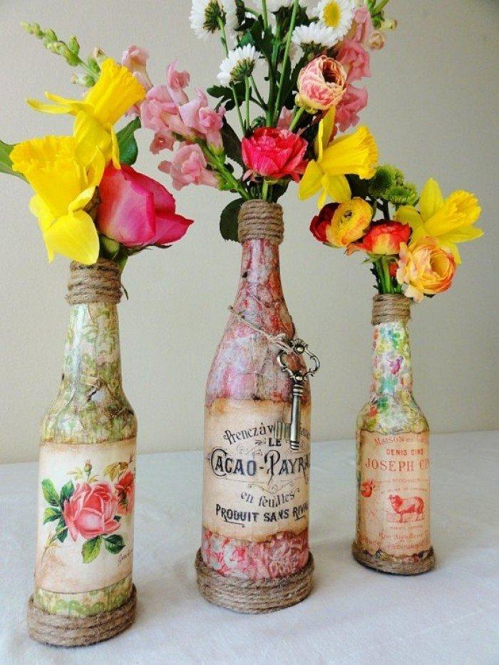 Декупаж – прикрашаємо вазу своїми руками