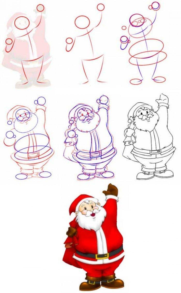 Как нарисовать Деда Мороза поэтапно, фото 2