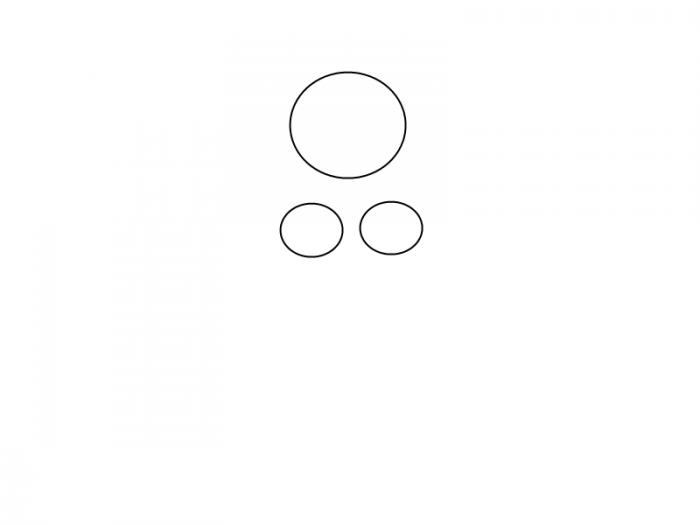 Як намалювати смішну русалочку, схема 3, крок 2