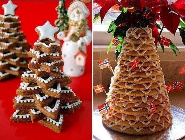 Елочка на стол из печенья - фото