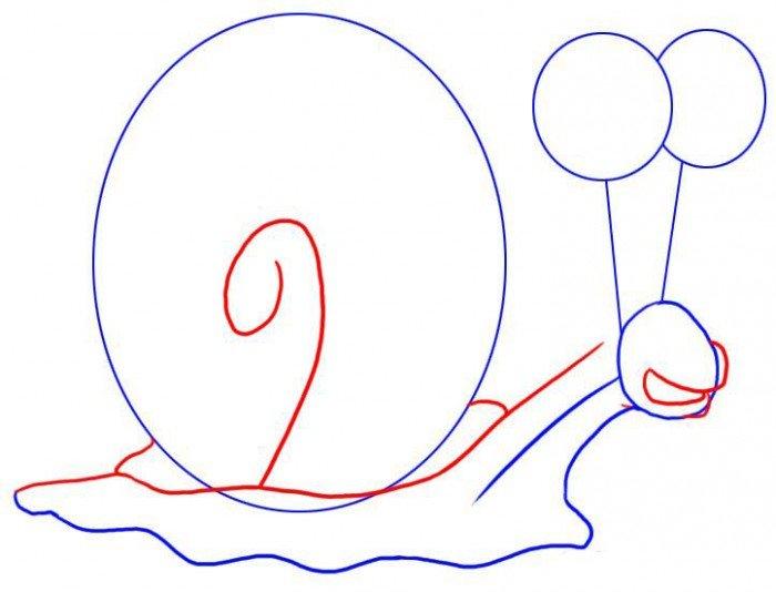 Как нарисовать Гєри поэтапно, шаг 3