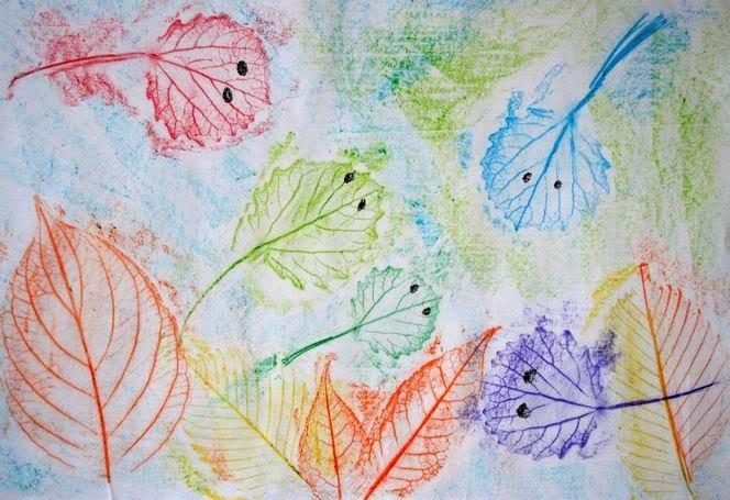 Малювання картин осіннім листям, фото 7