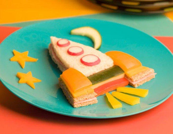 Съедобная ракета, бутерброды для детей