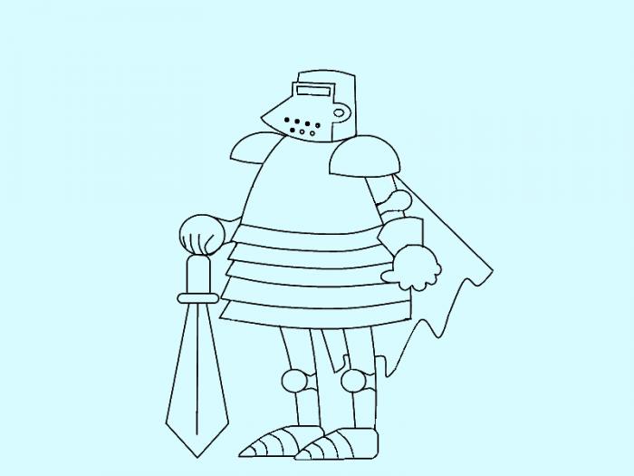 Как нарисовать рыцаря поэтапно, фото 11