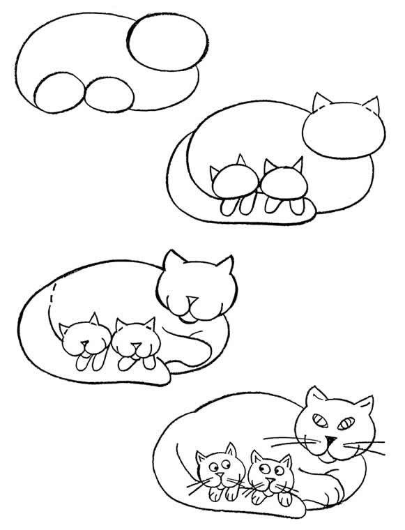 Как нарисовать котенка поэтапно, фото 7