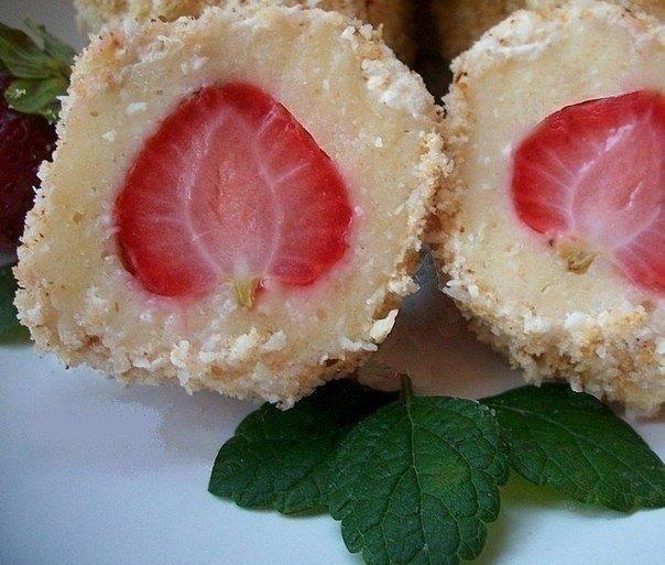 Конфеты рафаэлло с клубникой – рецепт, фото 8