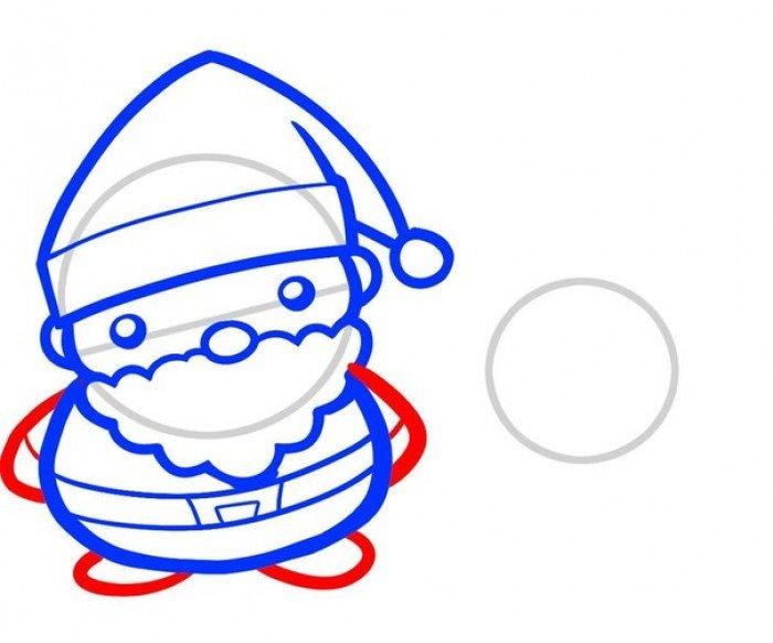 Как нарисовать Санта Клауса поэтапно, фото 5