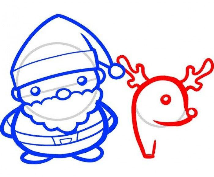 Як намалювати Санта Клауса поетапно, фото 6