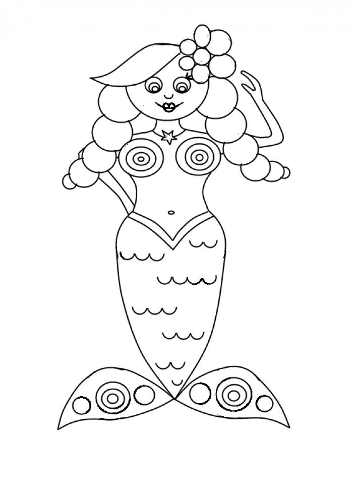 Як намалювати смішну русалочку, схема 3, крок 15