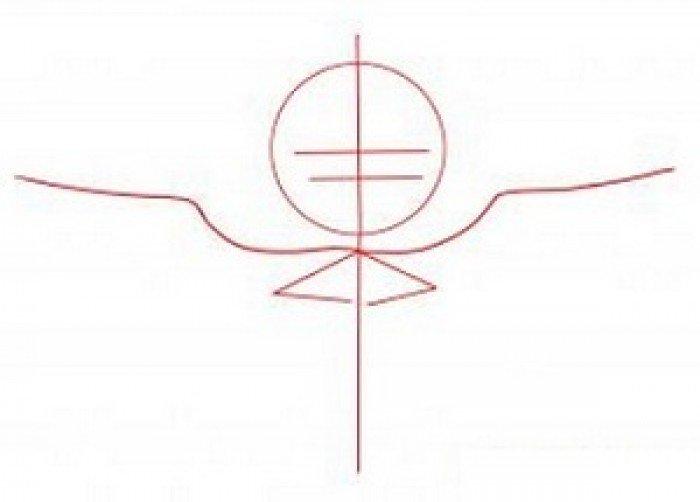 Как нарисовать ангела схема 2, шаг 1
