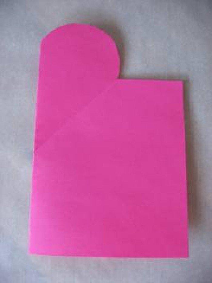 Листівка на День Святого Валентина з паперу, фото 3