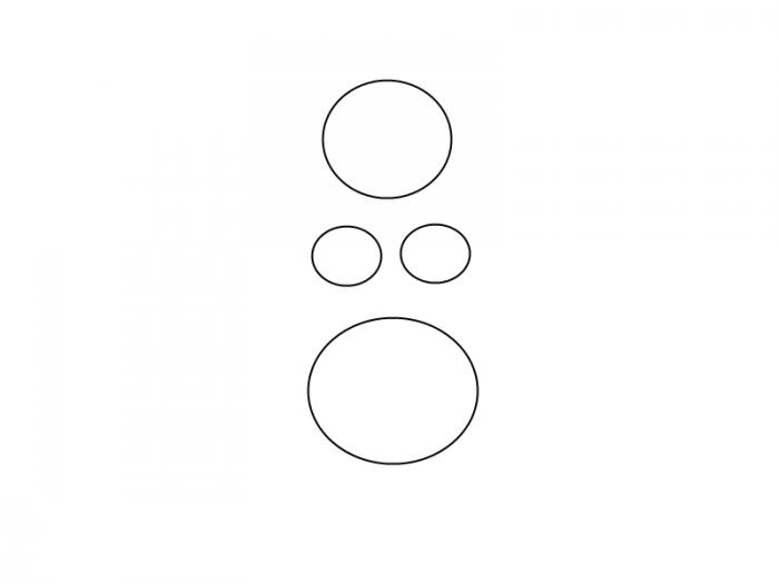 Как нарисовать смешную русалочку, схема 3, шаг 3