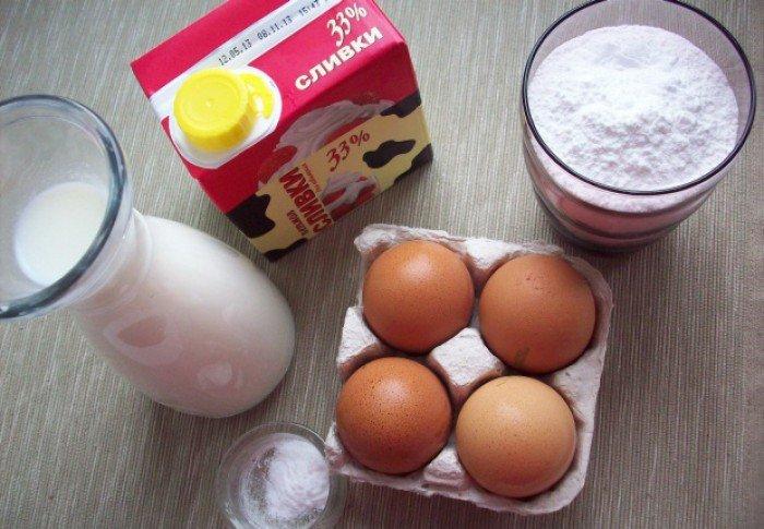 Інгрідієнти для приготування домашнього морозива