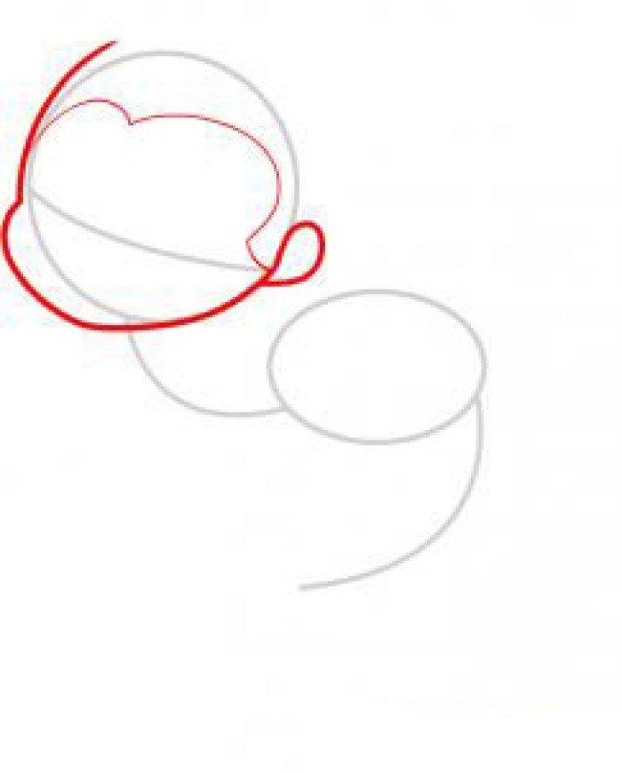 Как нарисовать маленькую русалочку, схема 2, шаг 2