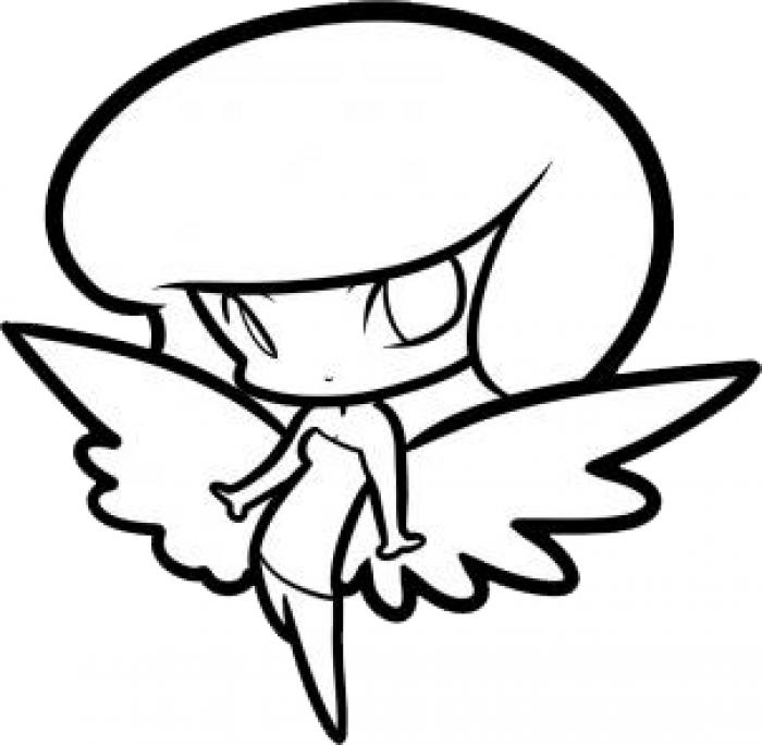 Как нарисовать ангела схема 4, шаг 8