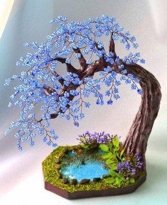 3db0f95d9559516161ed090d7f432098 Времена года. Плетем деревья из бисера