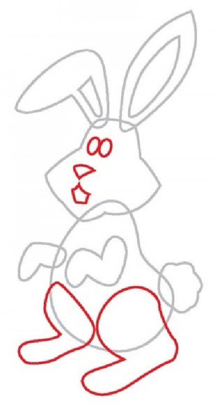 Як намалювати зайчика поетапно, фото 4