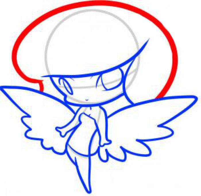 Как нарисовать ангела схема 4, шаг 7