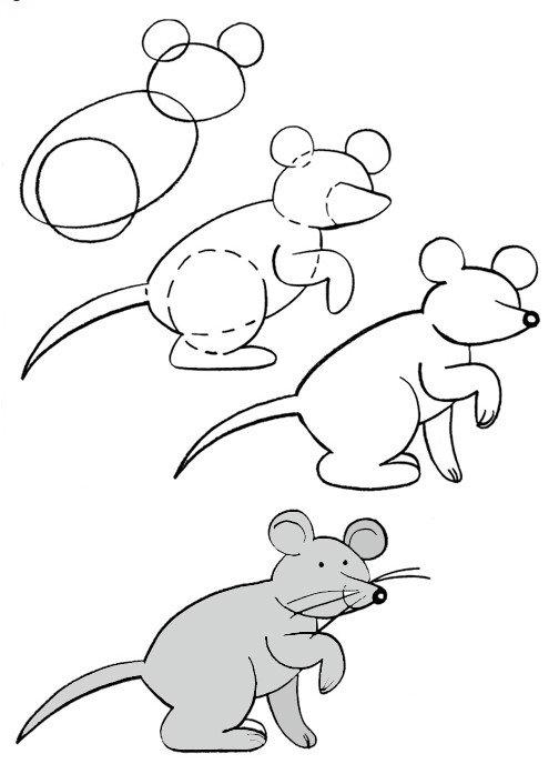 Как нарисовать мышку поэтапно, фото 29
