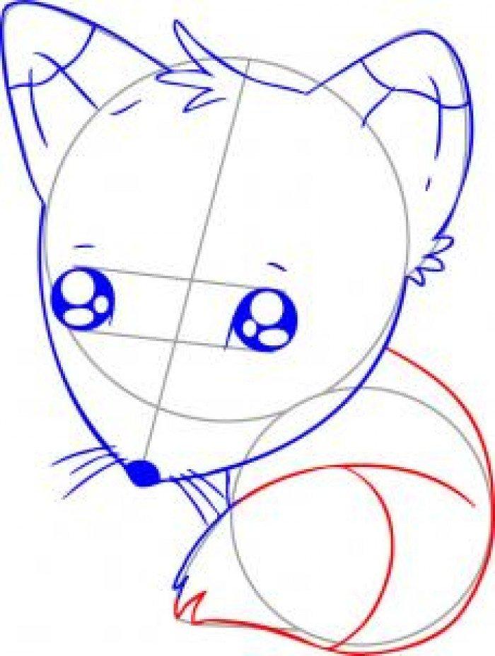 Як намалювати лисицю поетапно, фото 29