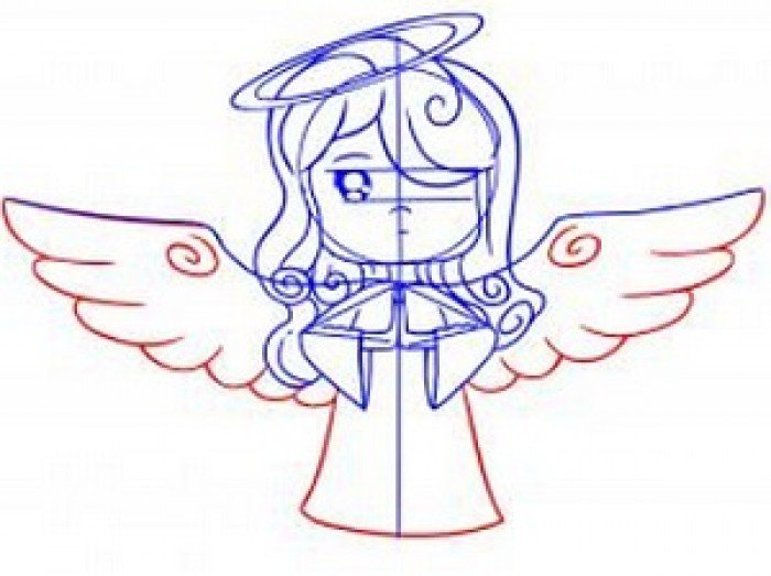 Как нарисовать ангела схема 2, шаг 5