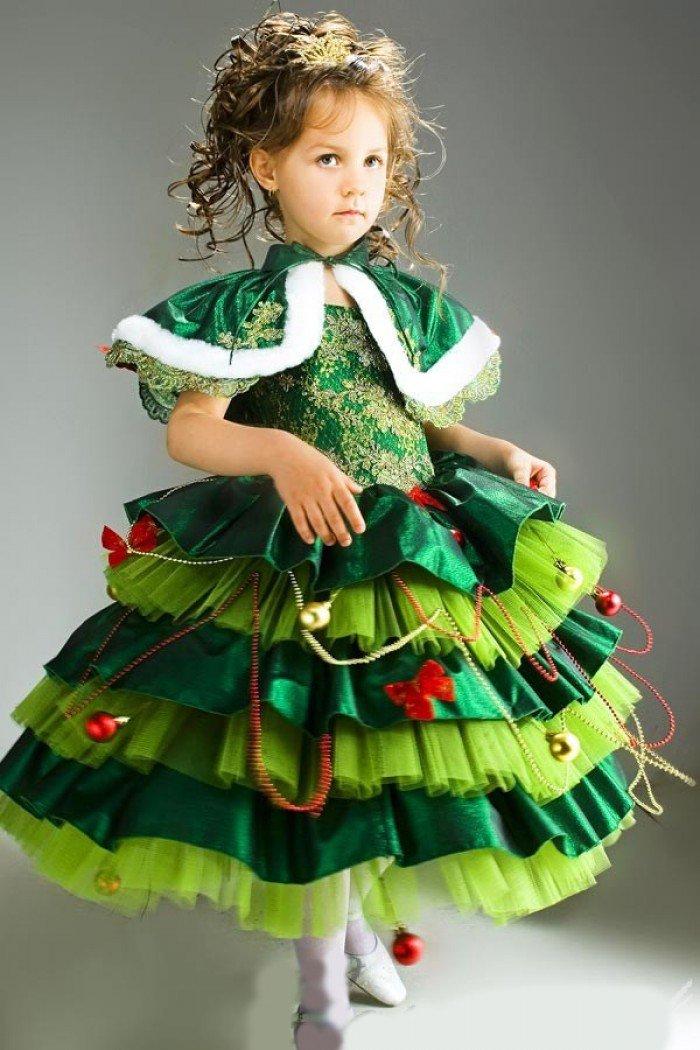 Детский новогодний костюм елочки своими руками
