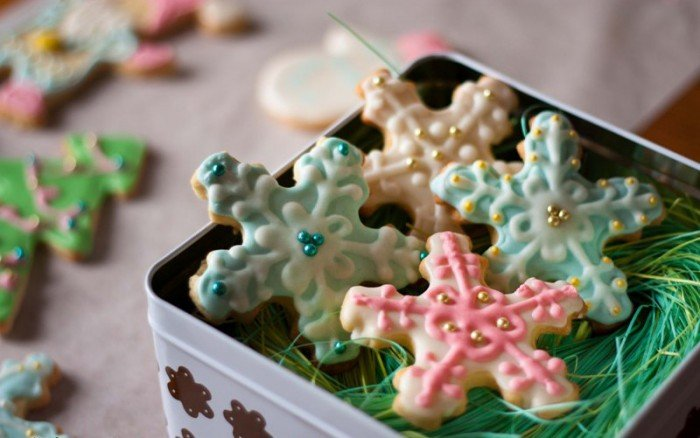 Вкусное новогоднее печенье с глазурью своими руками, фото 12