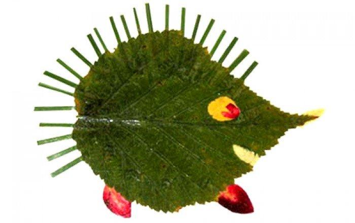 аплікація з осіннього листя, фото 14