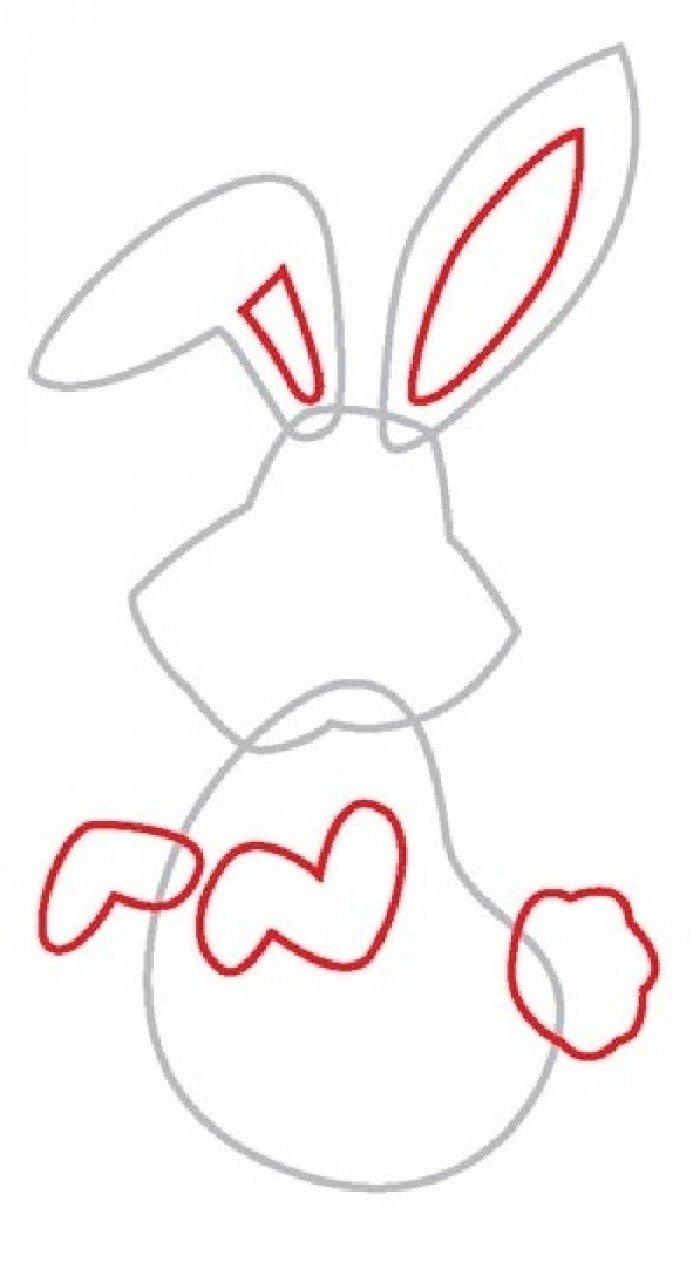 Як намалювати зайчика поетапно, фото 3