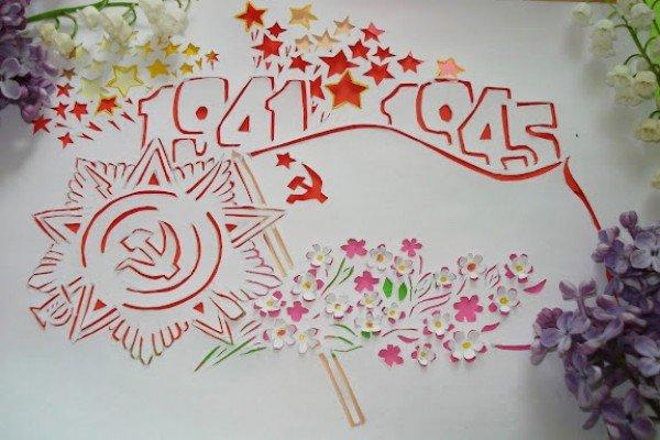К 9 мая своими руками рисунки 24