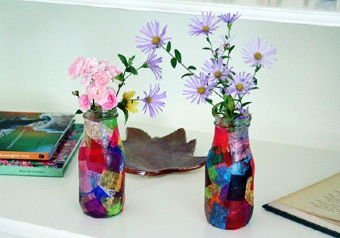 Поделка в виде вазы 72