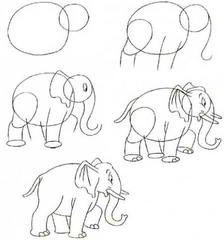 Як малювати слона поетапно, фото 4