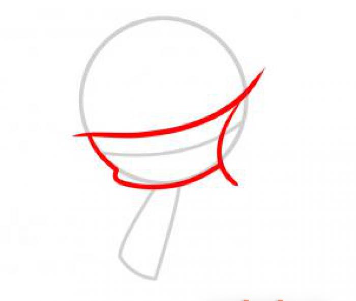 Как нарисовать ангела схема 4, шаг 2
