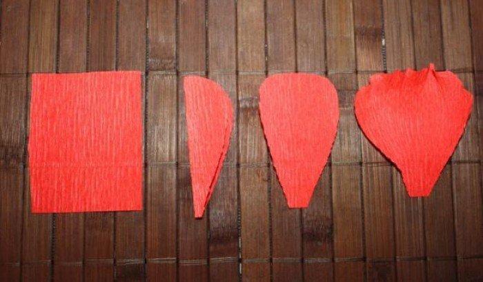 Как сделать букет из конфет – красные маки