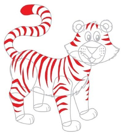Как нарисовать тигренка поэтапно, фото 4
