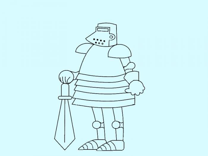 Как нарисовать рыцаря поэтапно, фото 10