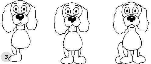 Як намалювати собаку, схема 3, крок 3