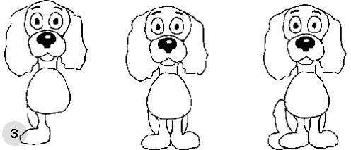 Как нарисовать собаку, схема 3, шаг 3