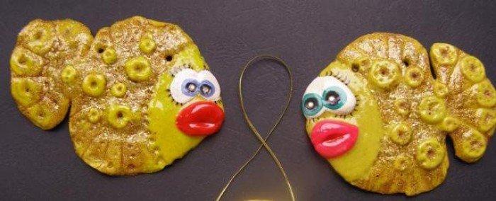 Риби із солоного тіста