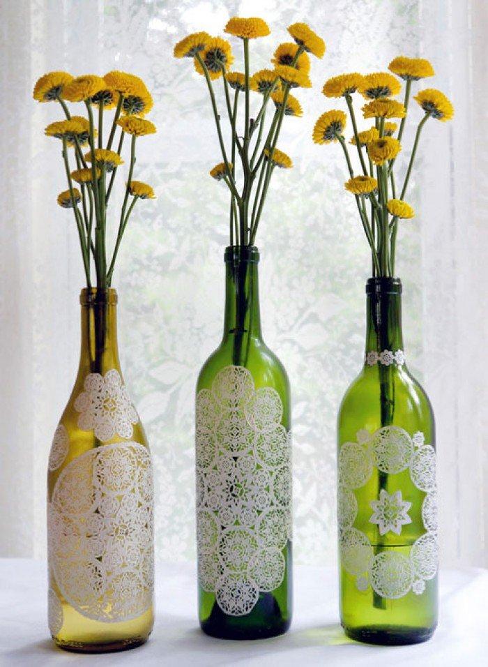 Своими руками ваза из бутылки
