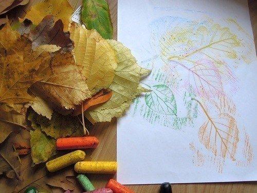 Малювання картин осіннім листям, фото 5