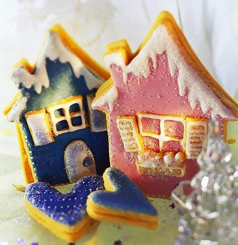 Вкусное новогоднее печенье с глазурью своими руками, фото 16