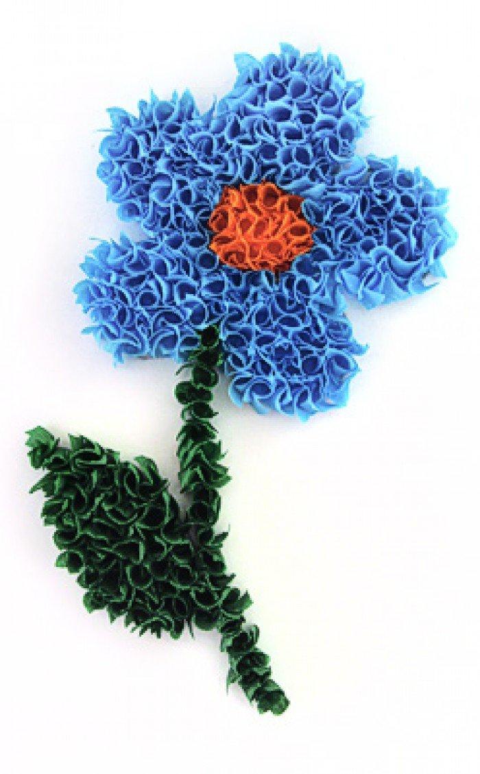 Аппликация цветов на 8 марта