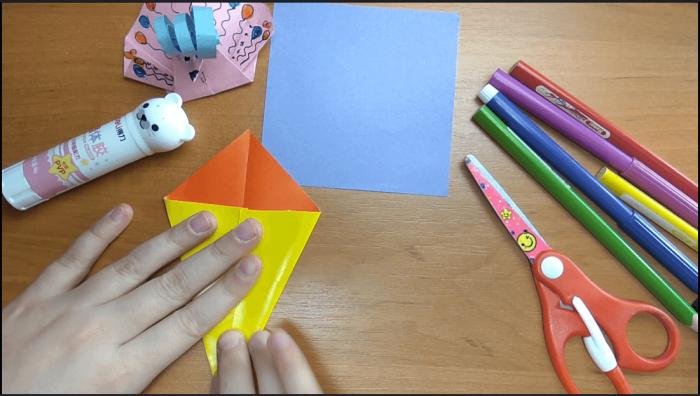 Павлин-оригами