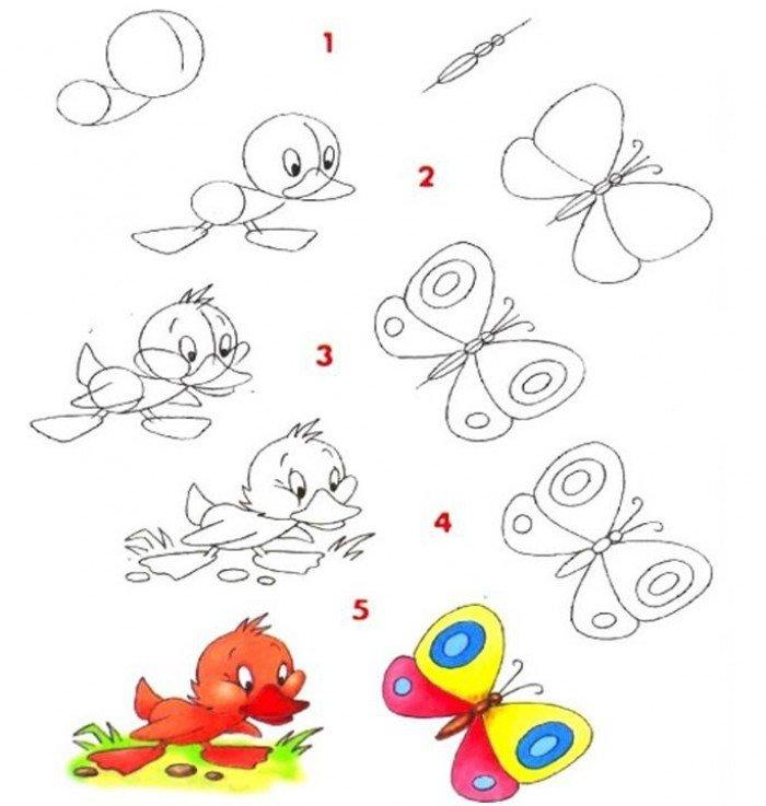 Як намалювати метелика крок за кроком, фото 9