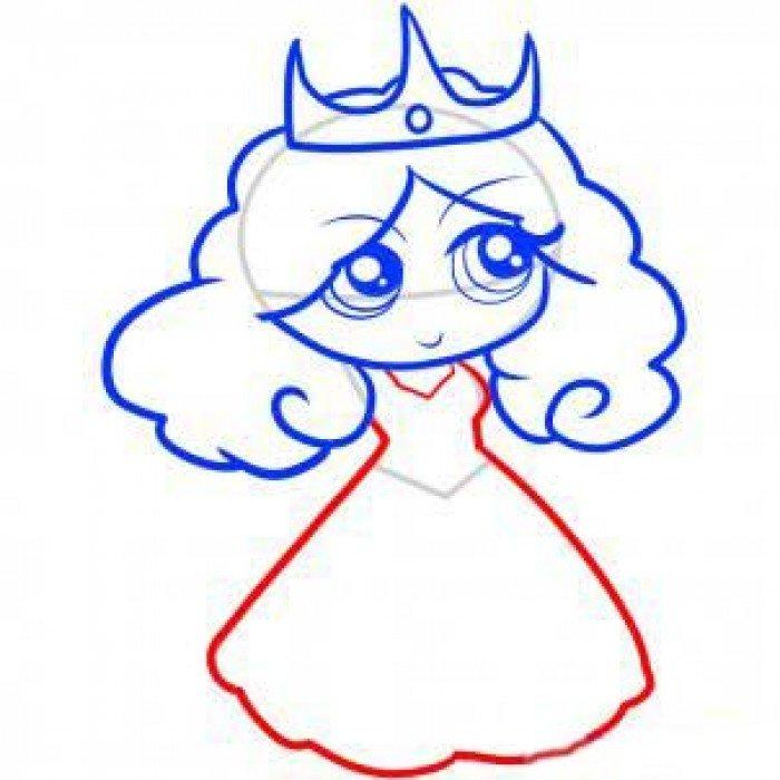 Как нарисовать принцессу, фото 7