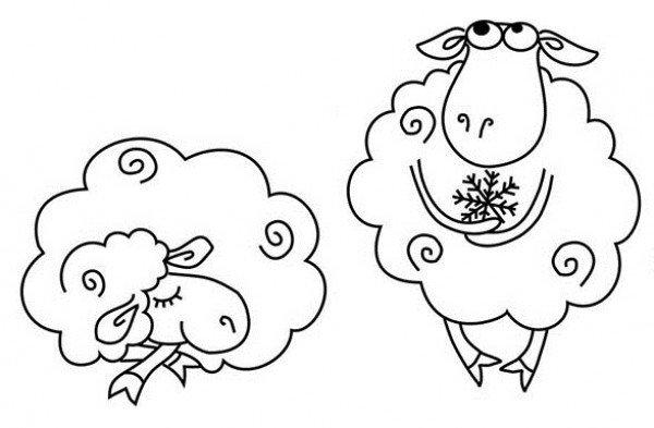 Рисуем овечек и барашков